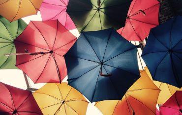 Modny męski parasol